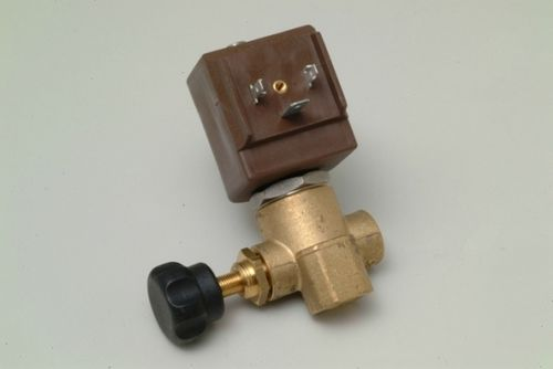 "Dampfmagnetventil (STEAM SOLENOID VALVE) CEME 1/4"" WITH REG. 230V (9934) Ø 2,8mm"